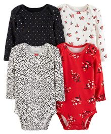 Carter's 4-Pack Original Bodysuits - Red Black