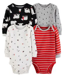 Carter's 4-Pack Original Bodysuits - Red White