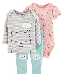 Carter's 3-Piece Little Character Set - Pink Sea Green