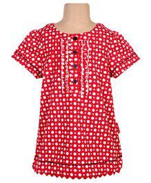 Ladybird - Short Sleeves Polka Dots Top