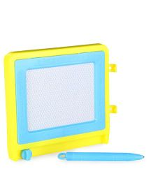Writing Board With Pencil - Yellow Blue