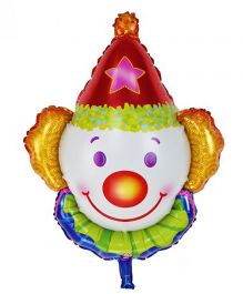 Party Anthem Giant Clown Face Foil Balloon Multicolor - Multicolor