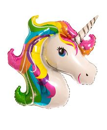 Party Anthem Giant Unicorn Foil Balloon - Multicolor
