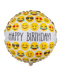 Party Anthem Emoji Happy Birthday Foil Balloon - Multicolor