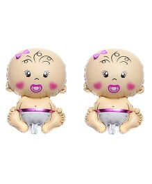 Party Anthem Baby Girl Foil Balloon Pack of 2 - Multicolor
