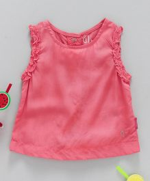 GJ Baby Sleeveless Solid Colour Party Top - Pink