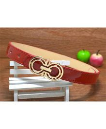Milonee Trendy Belt With Buckle - Red