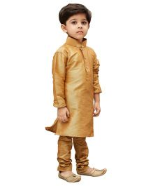 JBN Creation Sherwani & Churidaar Pyjama Set - Rose Gold