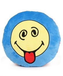 Archies Smiley Face Cushion - Blue