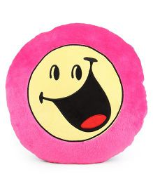 Archies Smiley Face Cushion - Pink Blue