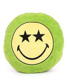 Archies Smiley Face Cushion - Green