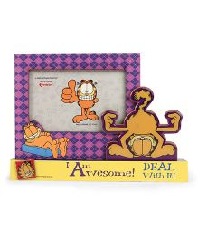 Archies Garfield Photo Frame - Purple Yellow