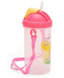 Water Bottle With Strap Pink - 500 ml