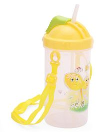 Water Bottle With Strap Yellow - 500 ml