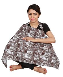 Lulamom Feeding & Nursing Cover Abstract Print - Grey
