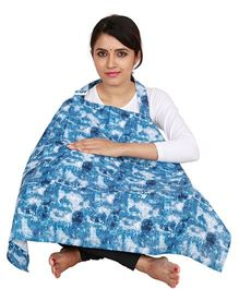 Lulamom Feeding & Nursing Cover Abstract Print - Blue