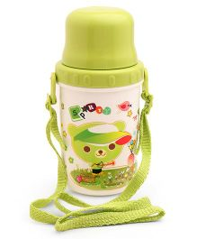 Sipper Water Bottle Teddy Print Green - 500 ml