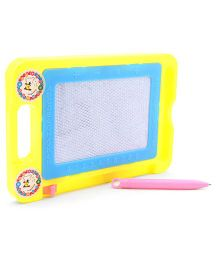 Alphabet And Numeric Print Baby Drawing Board And Pen - Yellow  Blue