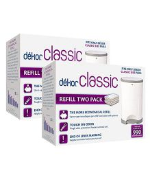 Diaper Classic Pail Liner Refills Pack of 4 - White