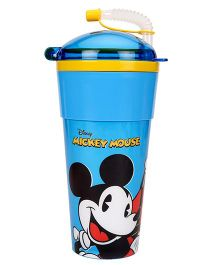 Disney Mickey Mouse Tumbler With Flexible Straw & Lid Blue - 470 ml