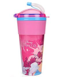 Disney Princess Tumbler With Flexible Straw & Lid Pink - 470 ml