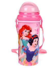 Disney Princess Sipper Bottle With Pop Up Straw Pink - 400 ml