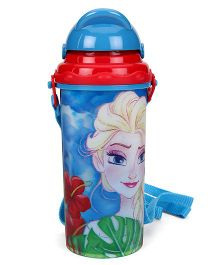 Disney Frozen Sipper Bottle With Pop Up Straw Blue Red - 400 ml