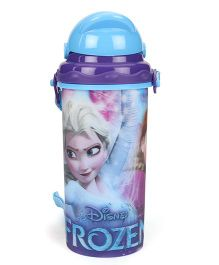 Disney Frozen Sipper Bottle With Pop Up Straw Blue - 400 ml