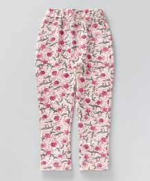 Earth Conscious Full Printed Jeggings - Pink