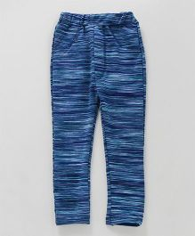 Earth Conscious Full Striped Jeggings - Blue