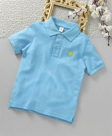 ToffyHouse Half Sleeves Polo T-Shirt - Light Blue