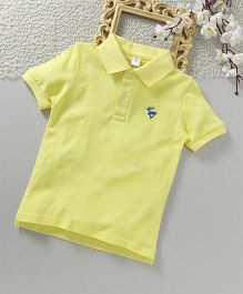 ToffyHouse Half Sleeves Polo T-Shirt - Lemon Yellow