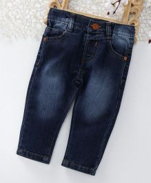 ToffyHouse Full Length Washed Jeans With Pockets - Dark Blue