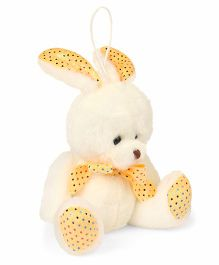 Archies Hanging Bunny Soft Toy White Yellow - Height 15 cm