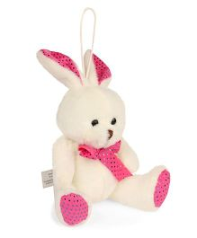 Archies Hanging Bunny Soft Toy Pink Cream - Height 15 cm