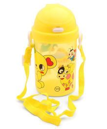 Water Bottle With Strap Yellow - 450 ml