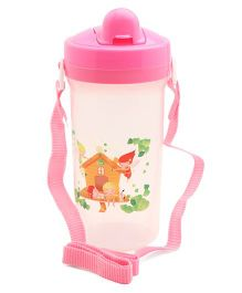 Flip Open Sipper Bottle Pink White -  500 ml