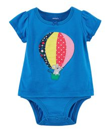 Carter's Short Sleeves Balloon Double-Decker Bodysuit - Blue