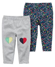 Carter's 2-Pack Heart Leggings - Grey