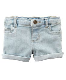 Carter's Stretch Denim Shorts - Light Blue