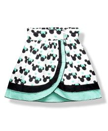 Young Birds Cartoon Skirt - Turquoise