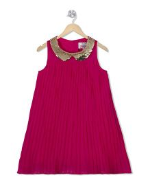Young Birds Pleated Dress - Pink