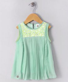 Bee Born Flower Print Dress - Green