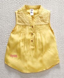 Bee Born Shirt Style Top - Yellow