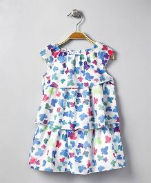 Mama Care Flower Print Dress - Blue