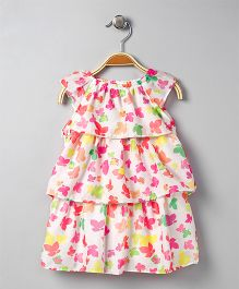 Mama Care Flower Print Dress - Pink