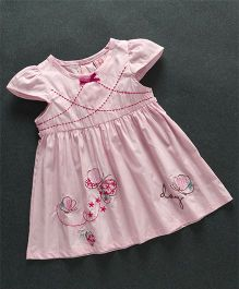Sunny Baby Butterfly Print Dress - Pink