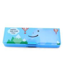 Printed Dual Sided Magnetic Pencil Box Printed - Blue