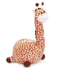 Dimpy Stuff Giraffe Seat With Support Brown - Height 75 cm