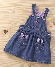Baby Pep Denim Dungaree Style Frock - Blue